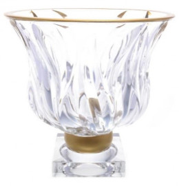 "фруктовница 24,5 см н/н  as crystal bohemia ""flame /матовая полоса"" as crystal / 163558"